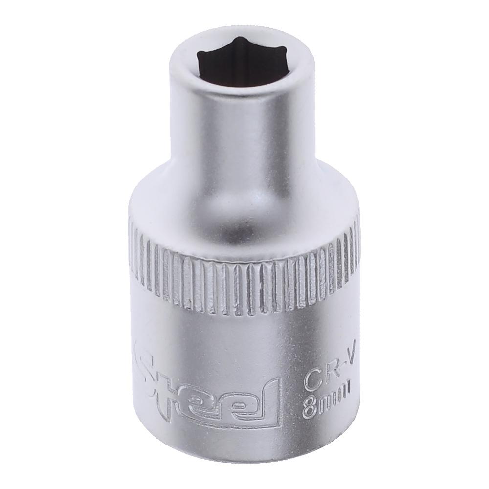 Головка  8мм 6 граней 1/2 AV Steel AV520008
