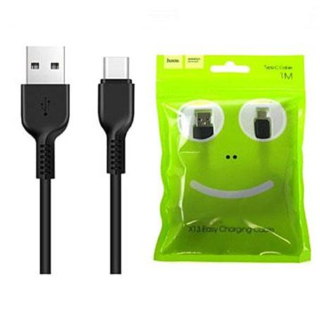 USB кабель HOCO Easy Type-C, пропускная способность  3 А длина кабеля 1м черный GL-3015